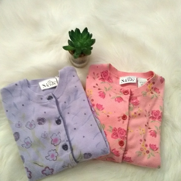 N-Kids Other - N-Kids little girls sweaters pink & lavender sz M